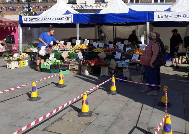 The market returned to the High Street in June 2020