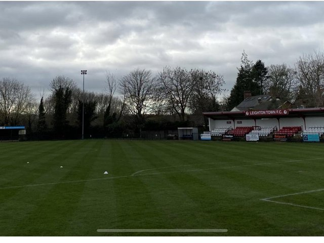 Leighton Town's Bell Close ground. Picture courtesy of Leighton Town FC