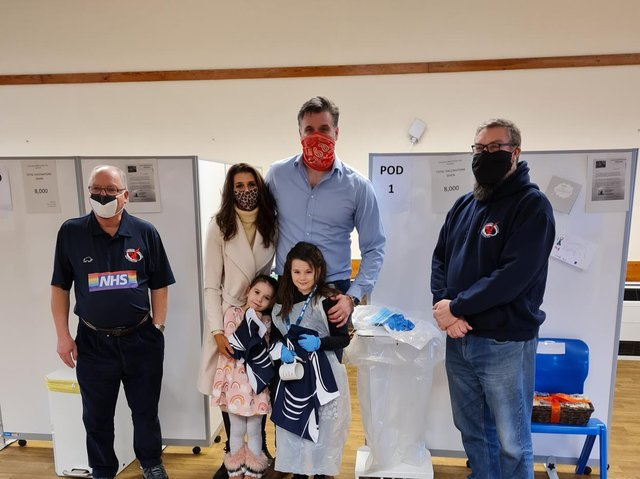 Emily Brodie's visit to the vaccination centre