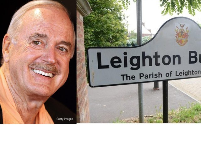John Cleese has mentioned Leighton Buzzard in a tweet