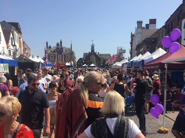 The May Fayre attracts large crowds