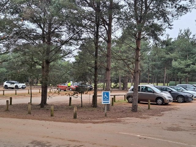 Visitors' cars at Rushmere Country Park. Photo: The Greensand Trust.