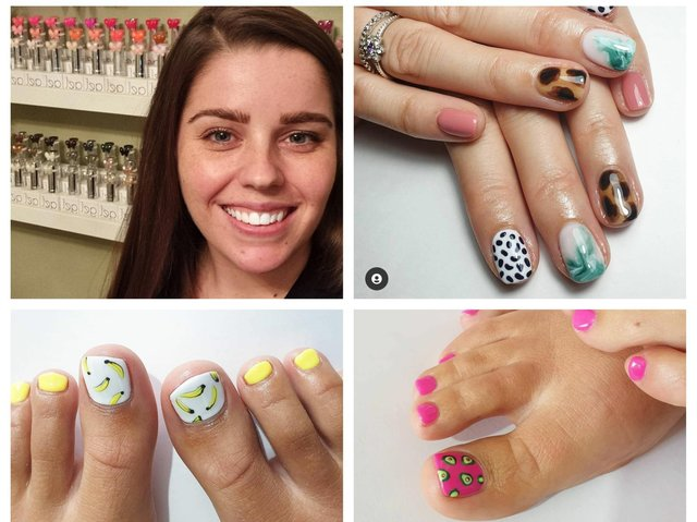 Emma North and her stylish nail designs.