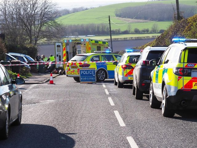 The crash occurred on Dunstable Road, just west of Dunstable
