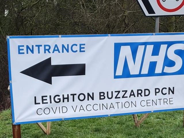 Leighton Buzzard Rugby Club vaccination site   Photo:LBPCN
