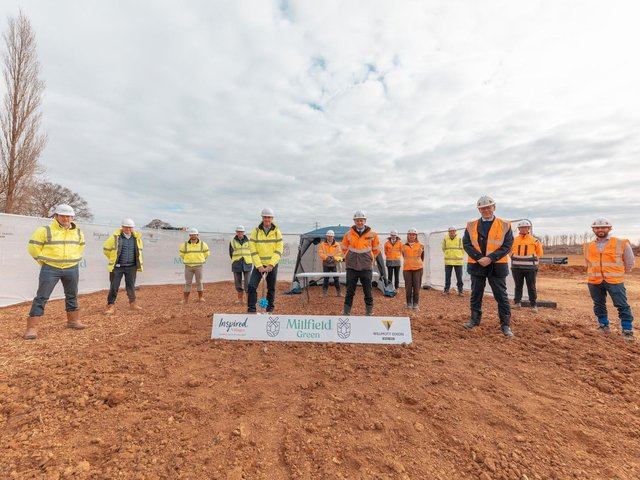 The project broke ground on Wednesday, April 7