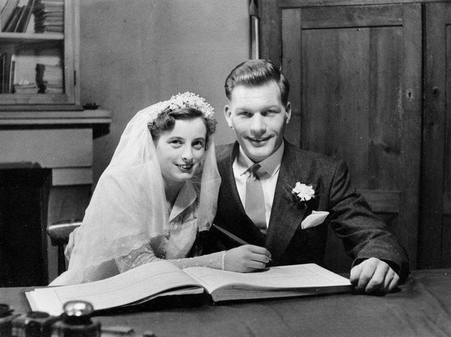 Roy and Beryl on their wedding day.