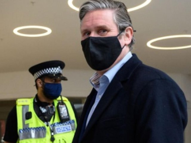 Keir Starmer during last Friday's visit in Bedford      (Getty images / Leon Neal)