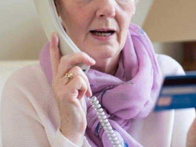 Elderly residents are being given phones with an inbuilt scam calling blocker