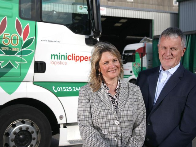 Jayne and Peter Masters of Miniclipper Logistics