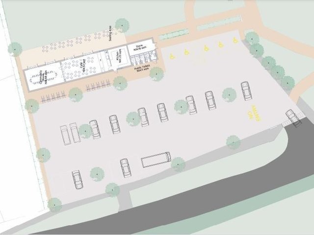 Site layout of the preferred option