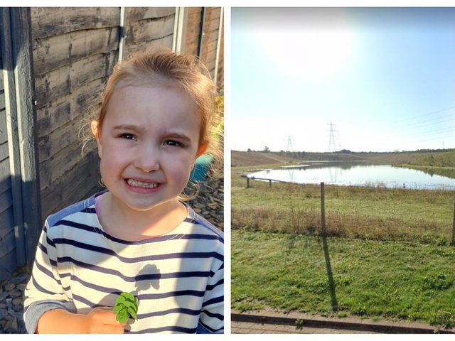 Lydia with her eight-leaf clover. Right: Astral Lake.
