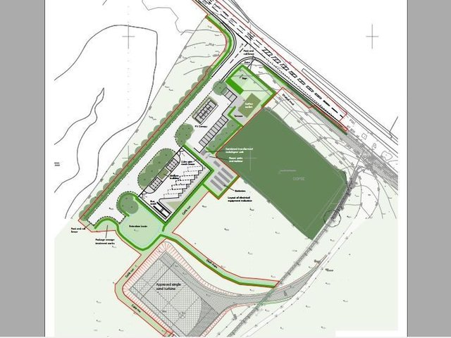 A plan of the site