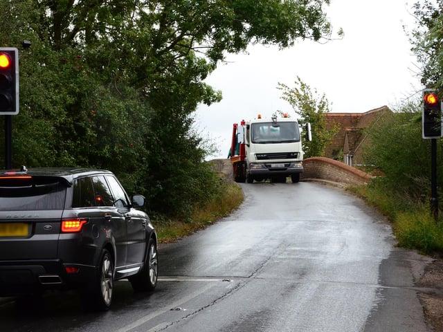 Lorry at Brownlow Bridge near Ivinghoe