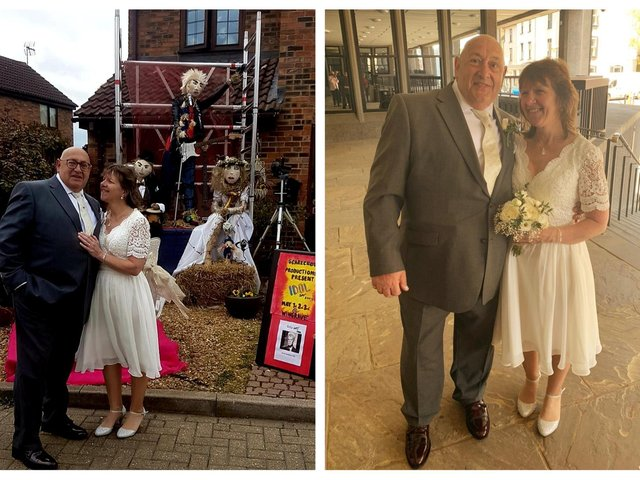 The scarecrow festival was held over the May bank holiday weekend. Robert and Kate were married on April 26.