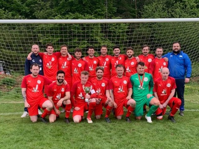 Leighton & District Sunday League Division Two Cup champions Leighton Red Bulls