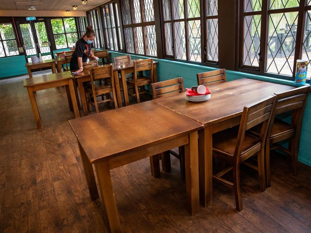 Diners are now allowed to eat inside as Covid restrictions ease