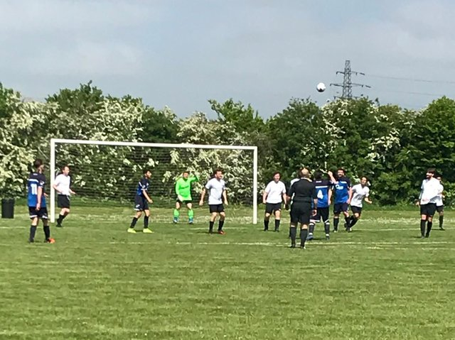Action from Sunday's Division Three Cup final