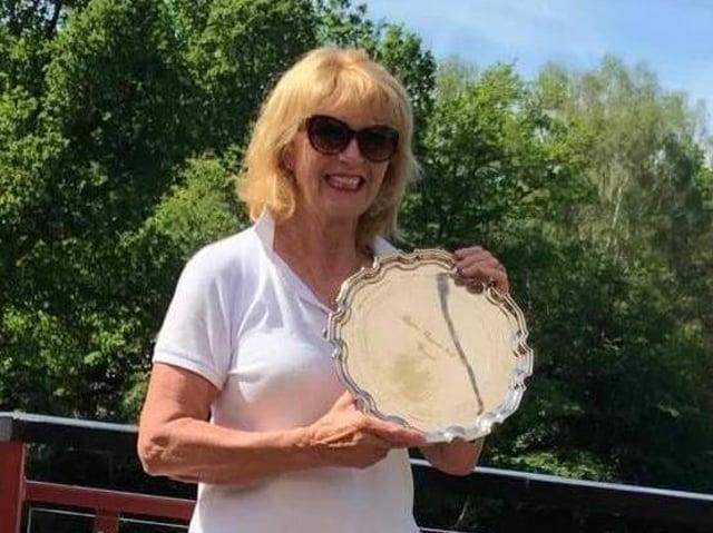 Grannies Salver winner Barbara Bradley.