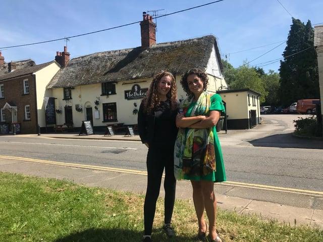 Owner of The Dukes, Sarah, with presenter Alex Polizzi. Photo: Sarah Smith.