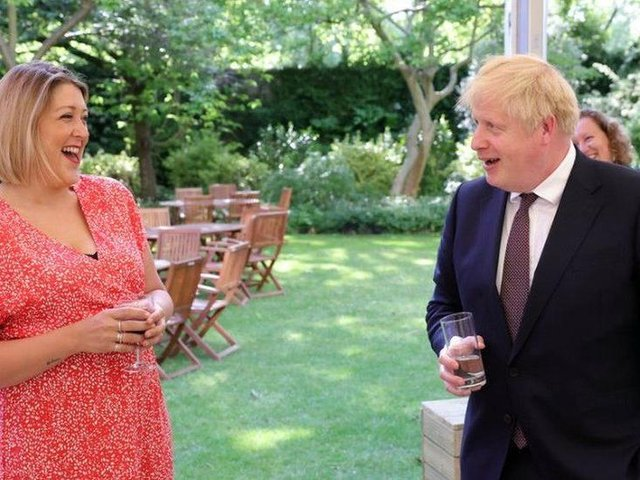 Holly meets the Prime Minister. Photo: 10 Downing Street.