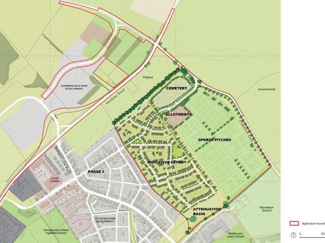 Stearn land layout in Leighton Buzzard