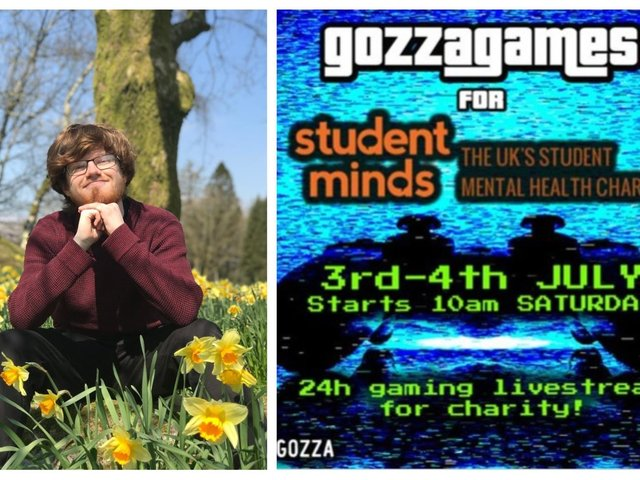 Adam Gorry and the Gozza Games poster.