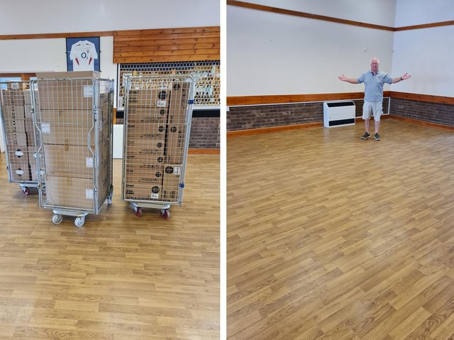 Stephen King, the PCN Operations Manager, and the empty hall, now that the equipment has gone