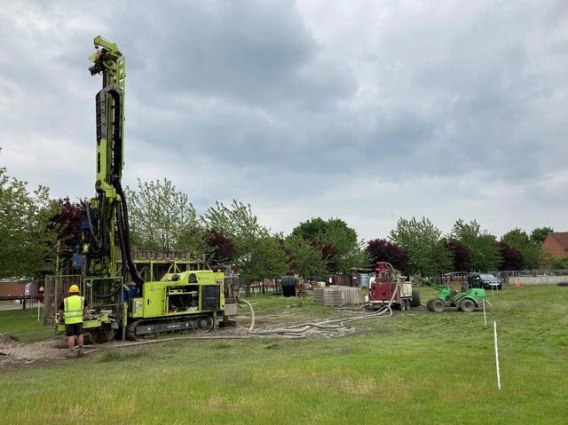 Geothermal installation at St George's College, Weybridge