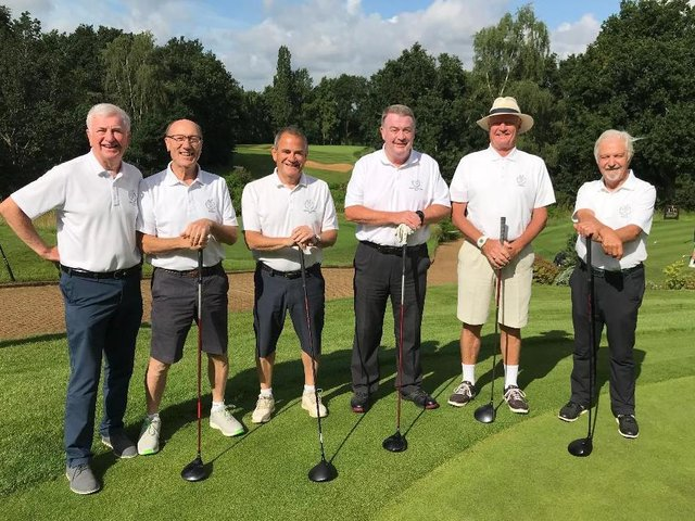 The Leighton squad, (pictured left to right) of Robbie John, Danny Nairne, Peter Myrants, Senior Section Captain Denis Leitch, Ian Rimmer and Graham Pellow were pipped at the post by hosts Aspley Guise and Woburn Sands for the coveted Rhys Richards trophy.
