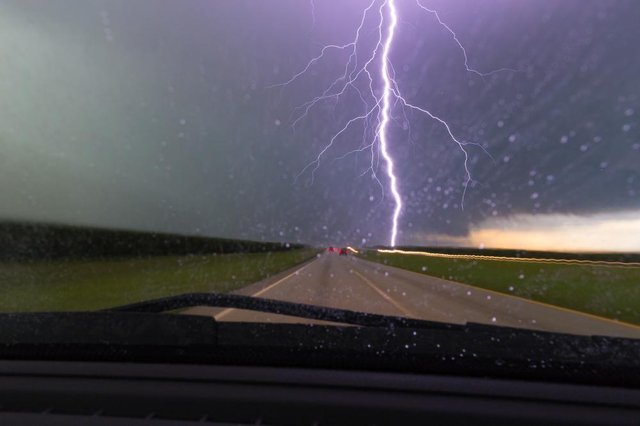 Driving in a storm presents several challenges