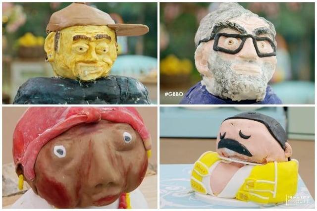 Bake Off celebrity cake busts